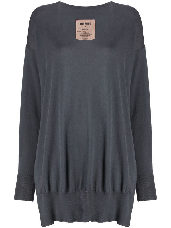 Uma Wang knitted relaxed fit oversized jumper in grey