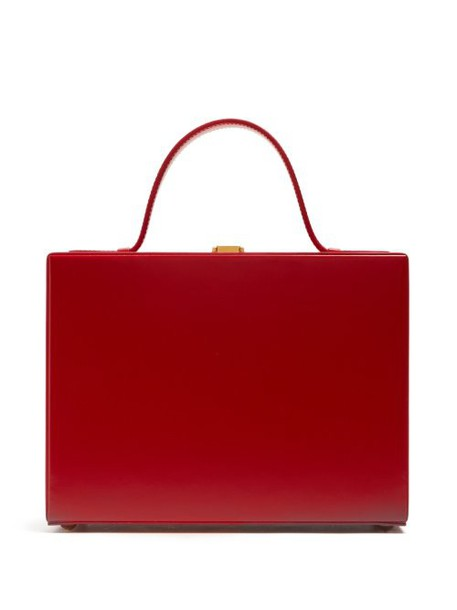 Mark Cross - Overnight Case Leather Box Bag - Womens - Red
