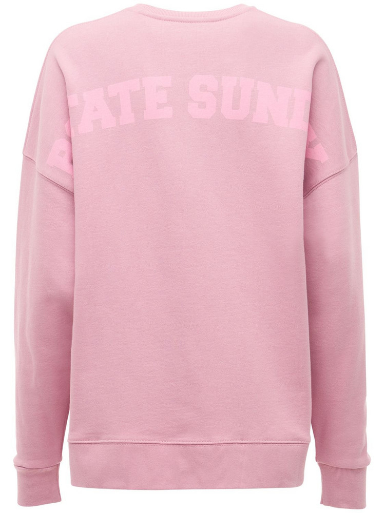 ROTATE Iris Sunday Capsule Jersey Sweatshirt in pink