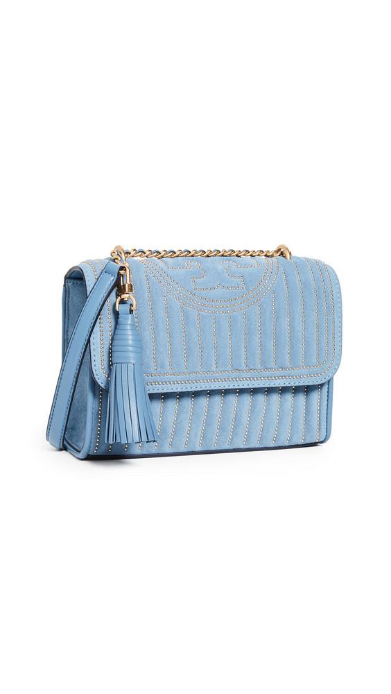 Tory Burch Fleming Mini Convertible Shoulder Bag in blue
