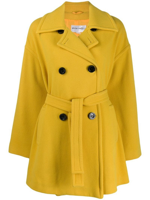 Pierre Cardin Pre-Owned 1980s double-breasted coat in yellow