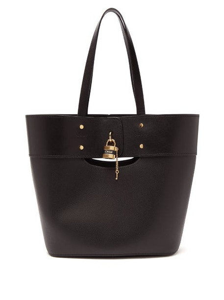 Chloé Chloé - Aby Large Smooth And Grained-leather Tote - Womens - Black