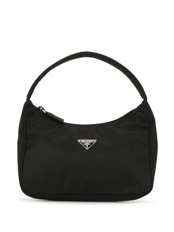 Prada Pre-Owned triangle plaque tote bag in black