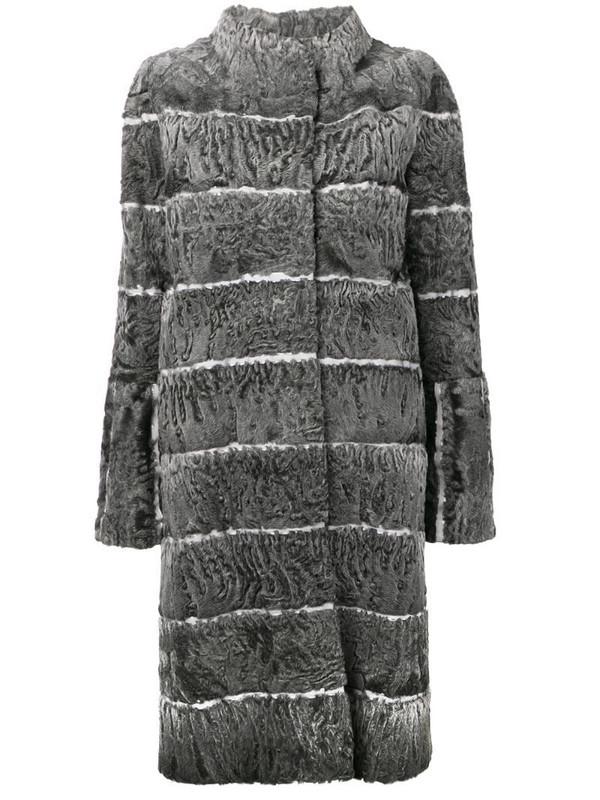 Liska Moser fur coat in grey