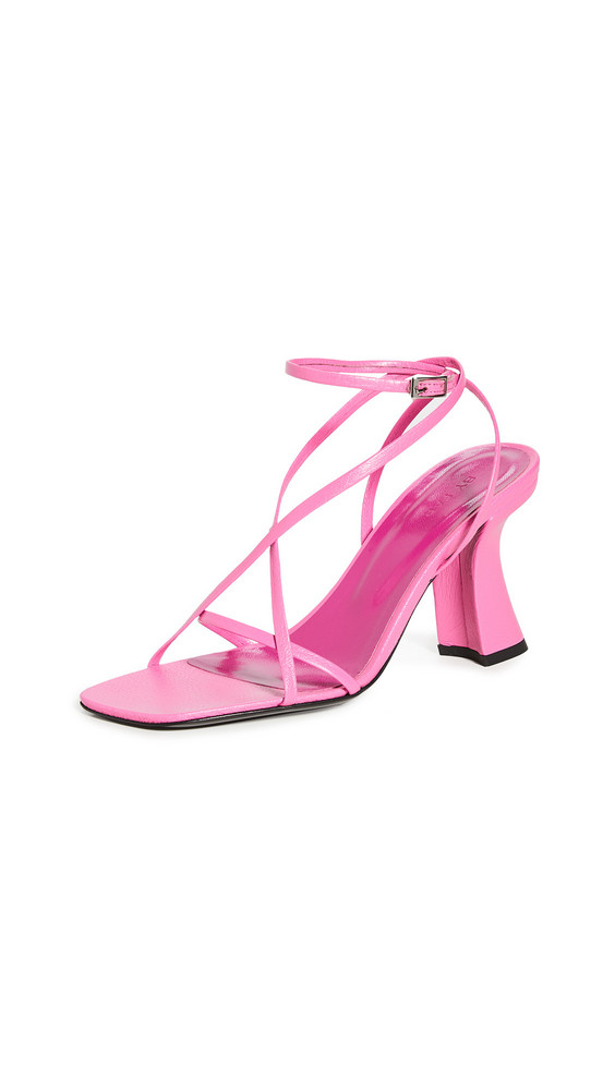 BY FAR Kersti Strappy Sandals in pink