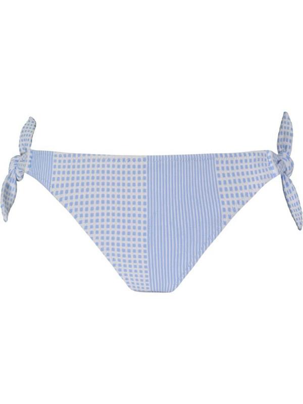 lemlem geometric print bikini briefs in blue