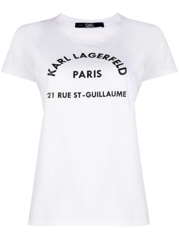 Karl Lagerfeld Address print T-Shirt in white