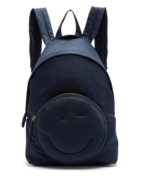 Anya Hindmarch - Chubby Wink Backpack - Womens - Navy