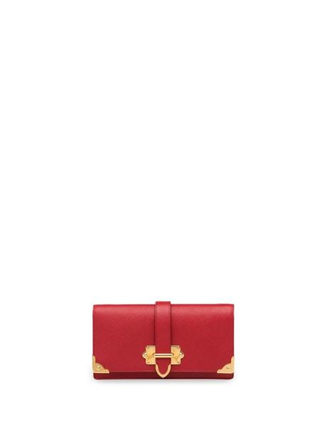 Prada Cahier Saffiano mini cross-body bag in red
