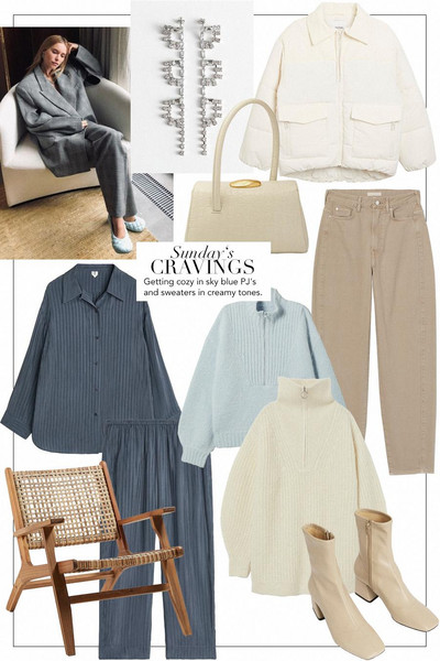 teetharejade blogger jewels jacket bag jeans shirt pants sweater shoes winter outfits pastel pastel blue