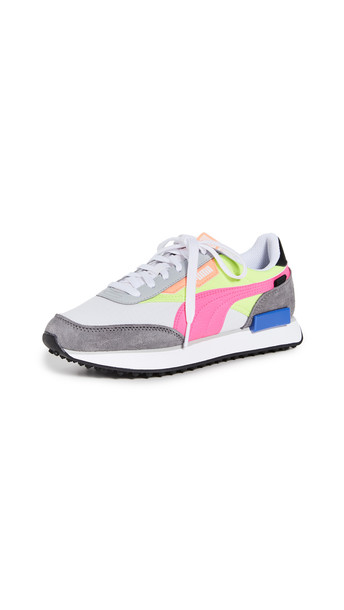 PUMA Rider Play On Sneakers in grey / pink / white / yellow