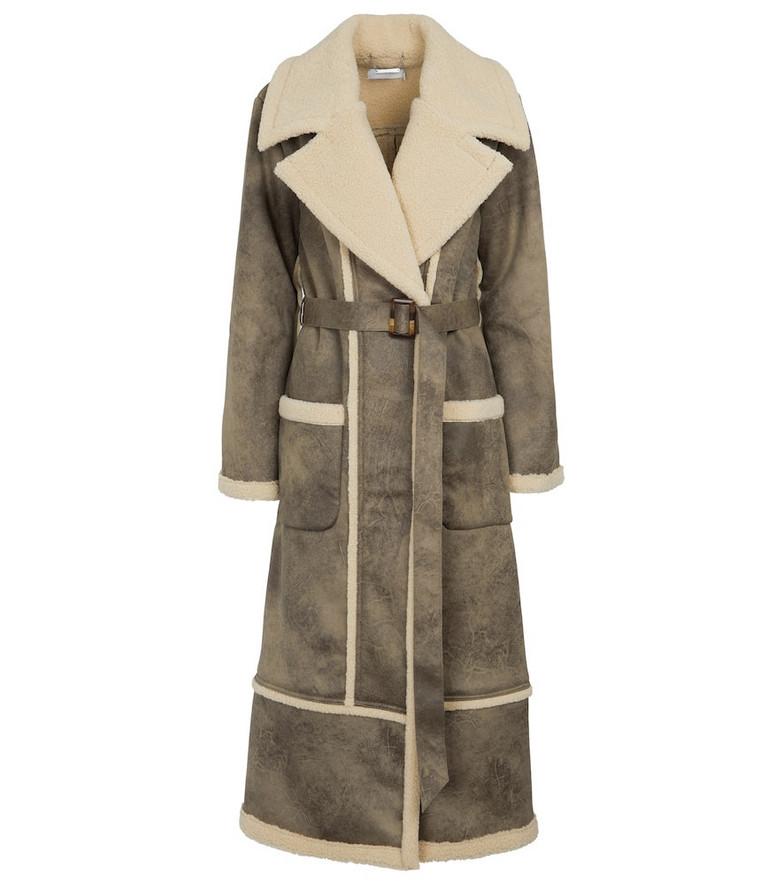 Jonathan Simkhai Briar faux leather coat in brown