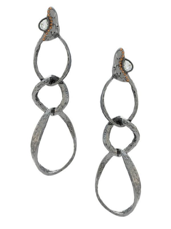 Camila Klein Elos long earrings in black