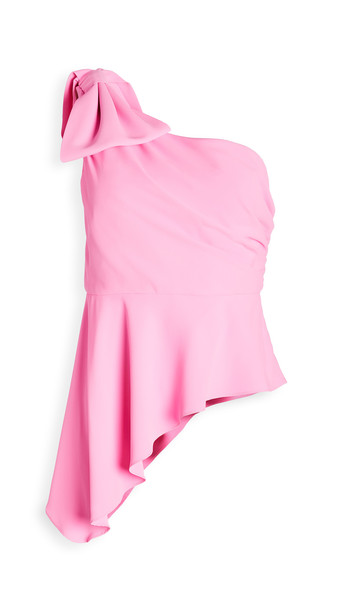 Amanda Uprichard Panama Top in pink