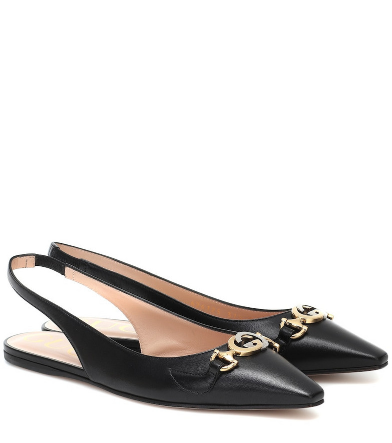 Gucci Zumi leather ballet flats in black