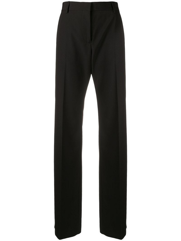 MSGM high-waisted tailored trousers in black