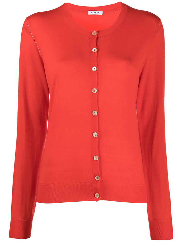 P.A.R.O.S.H. P.A.R.O.S.H. Lapsus knitted cardigan - Red