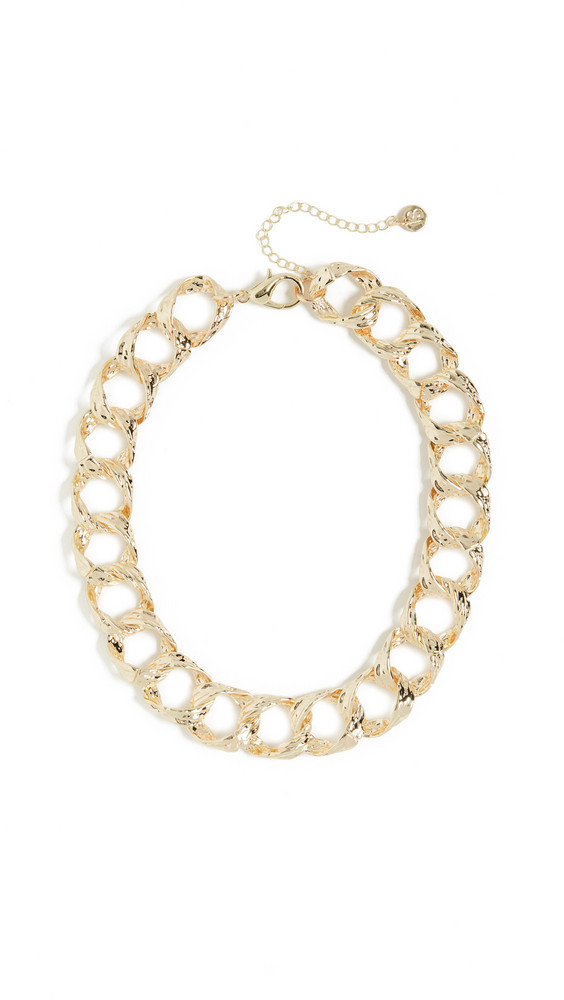 Jules Smith Vintage Textured Chain Necklace in gold