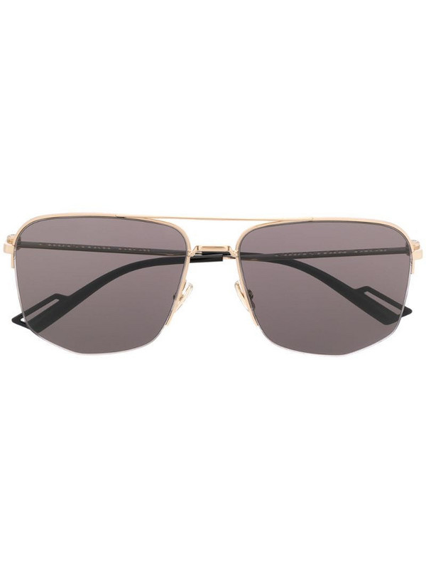Dior Eyewear oversized double-bridge sunglasses in gold