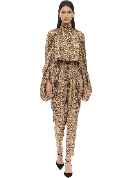 ZIMMERMANN Animal Printed Chiffon Jumpsuit in leopard