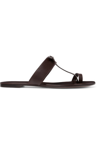 Gianvito Rossi - Leather Slides - Brown