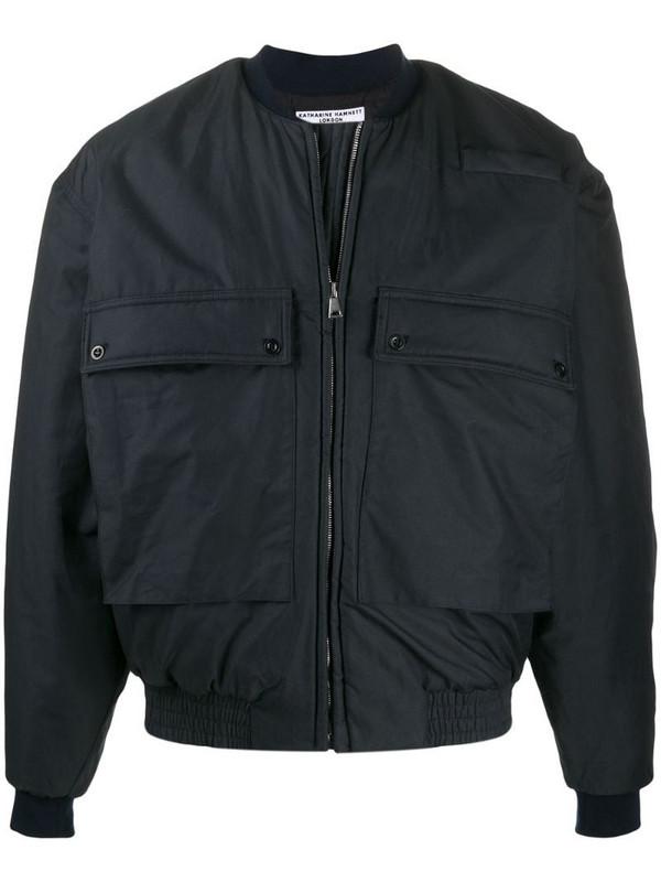 Katharine Hamnett London utility pocket bomber jacket in blue