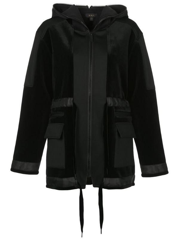 ALALA zipped hooded jacket in black