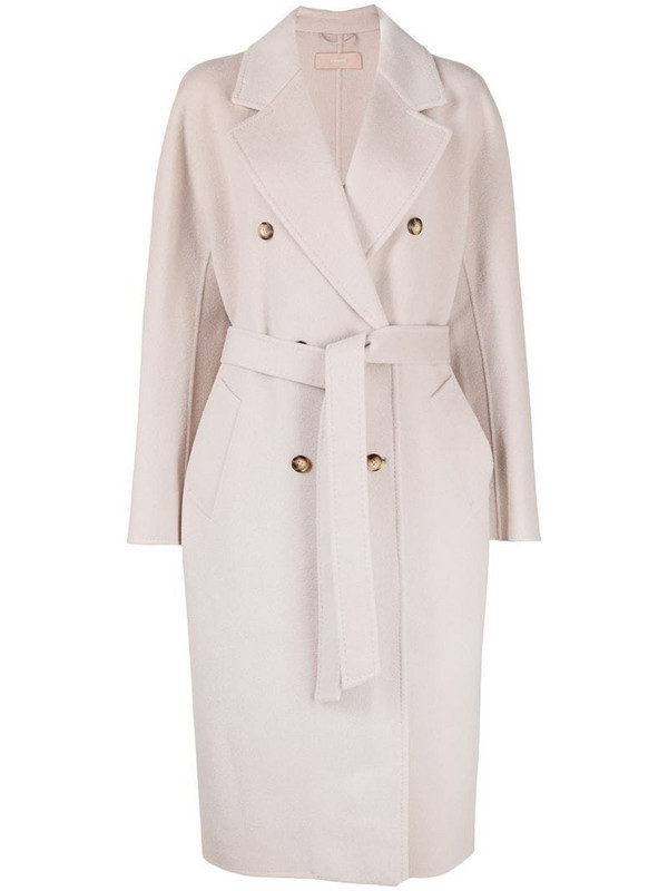 12 STOREEZ belted double-breasted coat in neutrals