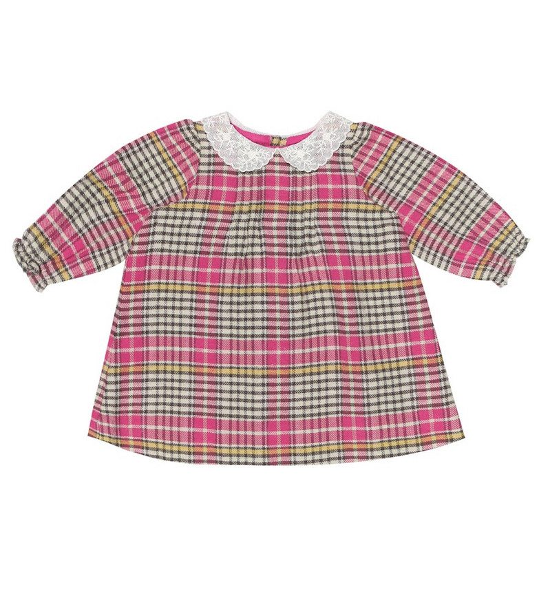 Bonpoint Baby Magnolia checked cotton dress in pink