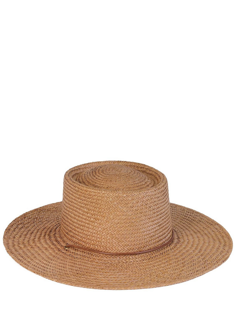 LACK OF COLOR The Vienna Raffia Brimmed Hat in natural