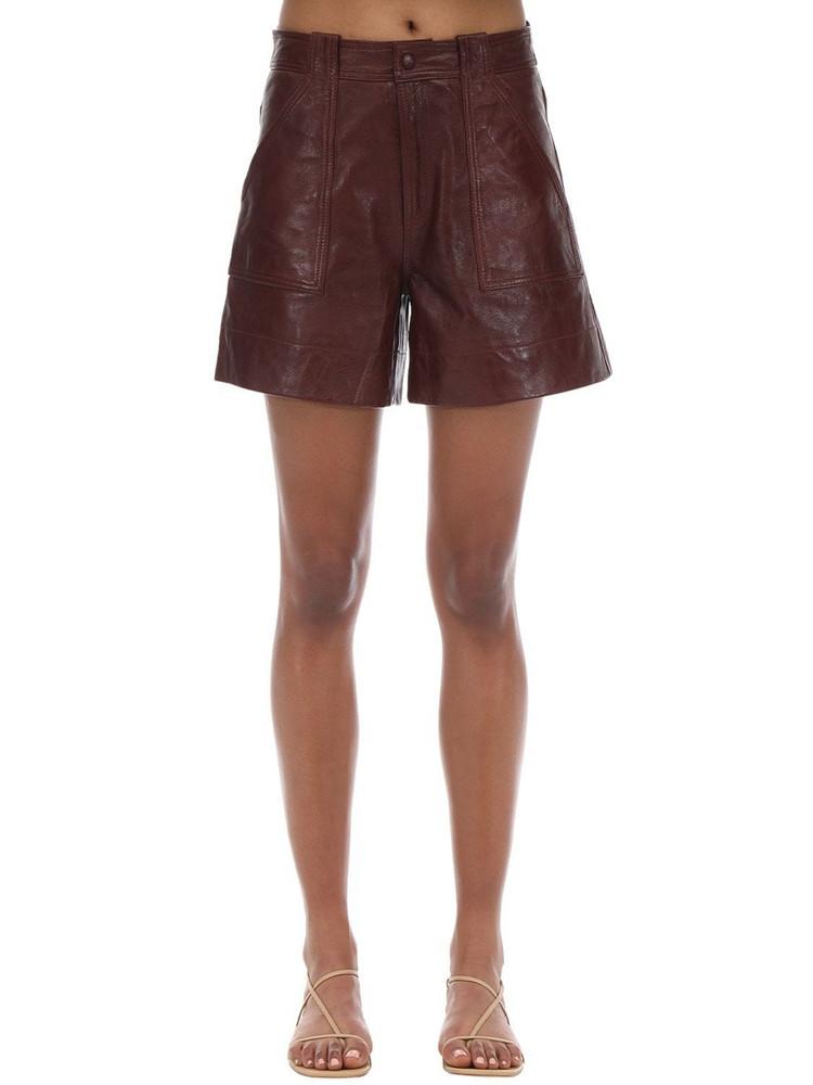 GANNI Leather Shorts