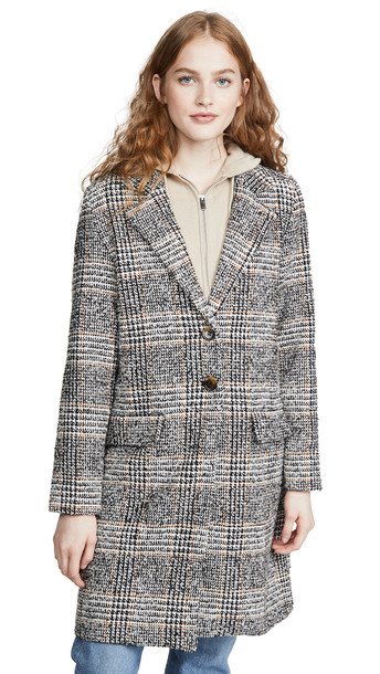 The Fifth Label Project Check Coat in black / white