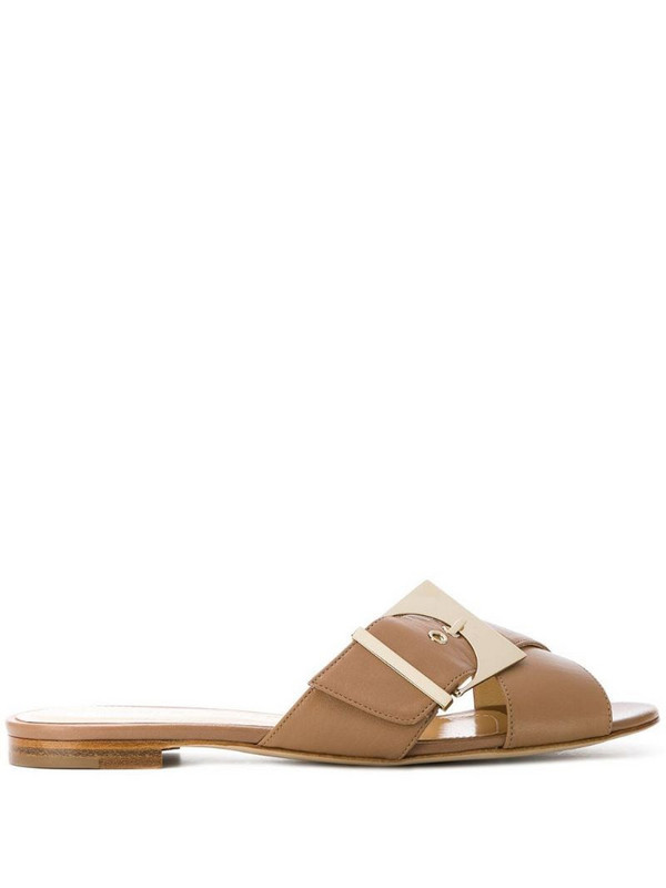 Chloe Gosselin crossover buckled sandals in neutrals