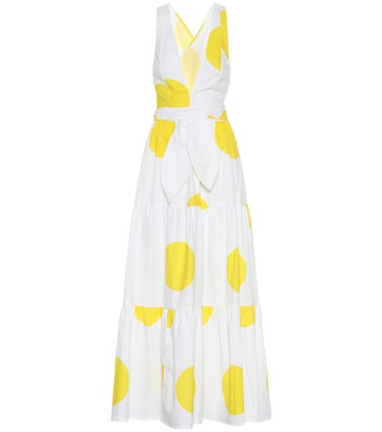 Alexandra Miro Exclusive to Mytheresa – Raphaela dotted cotton maxi dress in yellow