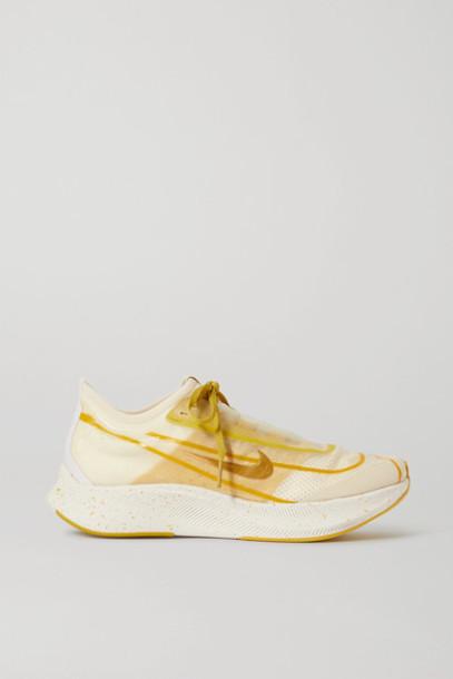 Nike - Zoom Fly 3 Mesh Sneakers - Mustard