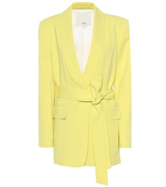 Tibi Wrap blazer in yellow