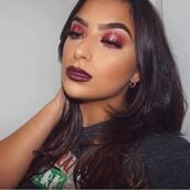 make-up,red make-up