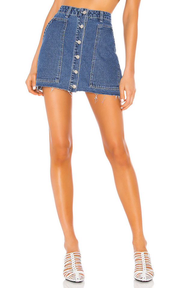 KENDALL + KYLIE Fashion Denim Mini Skirt