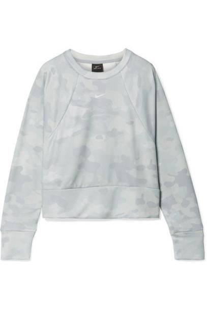 Nike - Rebel Camouflage-print Dri-fit Sweatshirt - Light gray