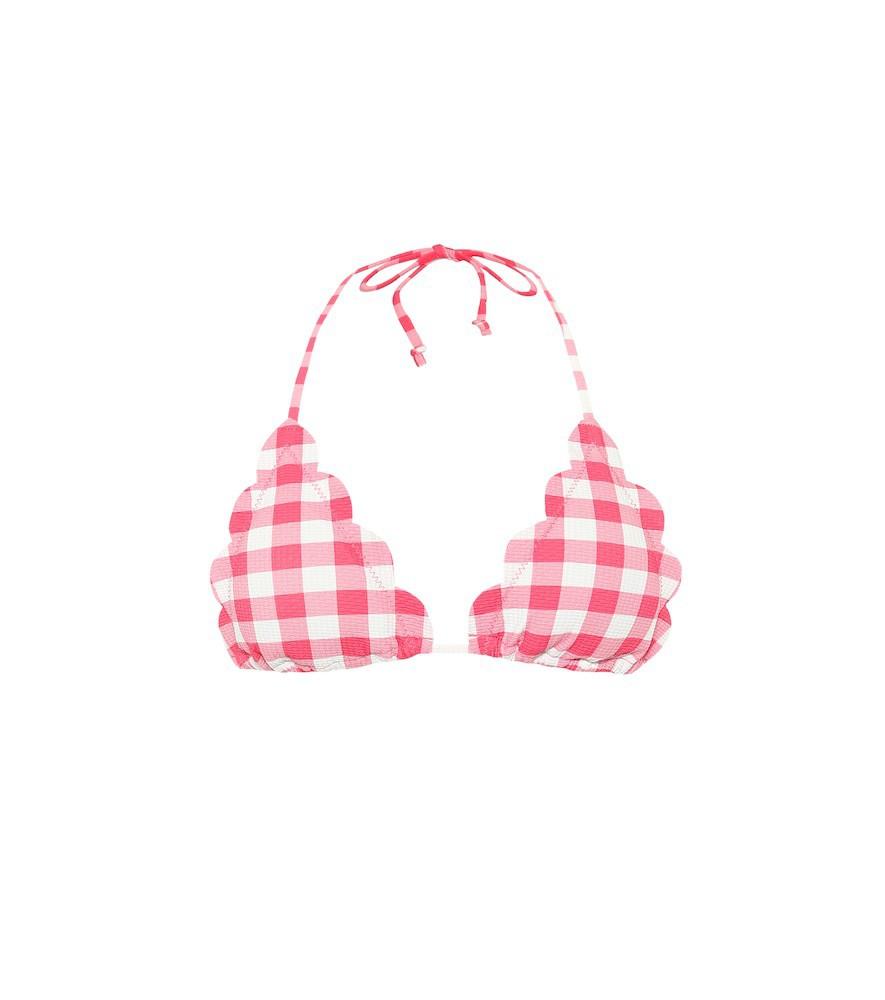 Marysia Exclusive to Mytheresa – Broadway gingham bikini top in pink