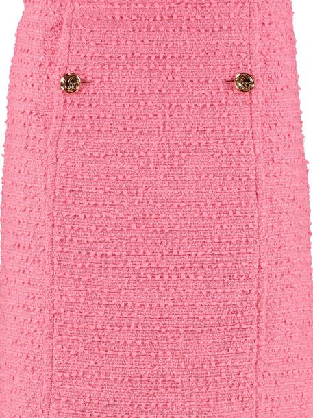Gucci Tweed Mini-skirt in pink