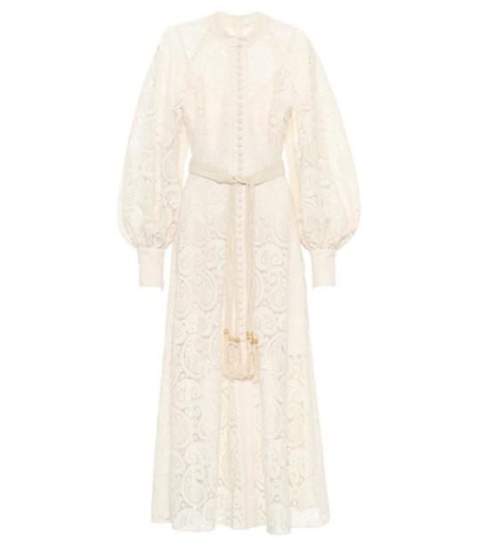 Zimmermann Amari Paisley lace maxi dress in white
