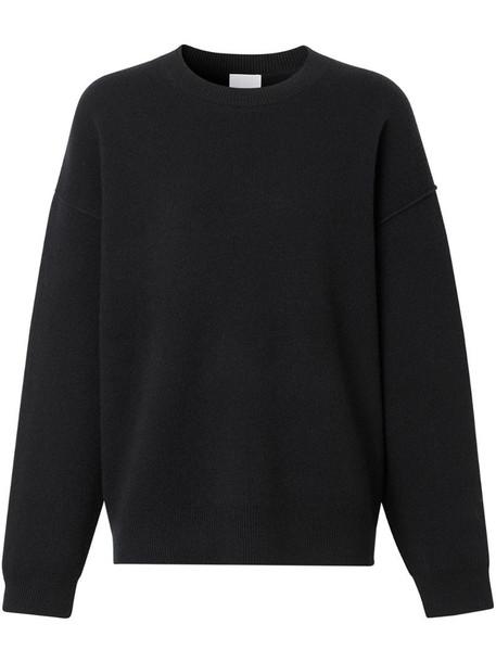 Burberry drop-shoulder knitted jumper in black
