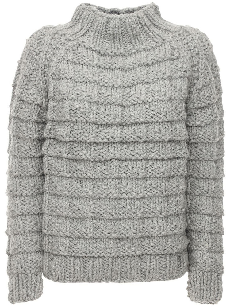 GUDRUN & GUDRUN Amor Wool Knit Sweater in grey