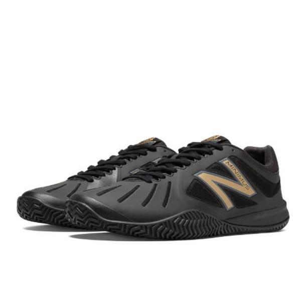 New Balance 60 Men's Tennis Shoes - Black, Gold (MC60BG)