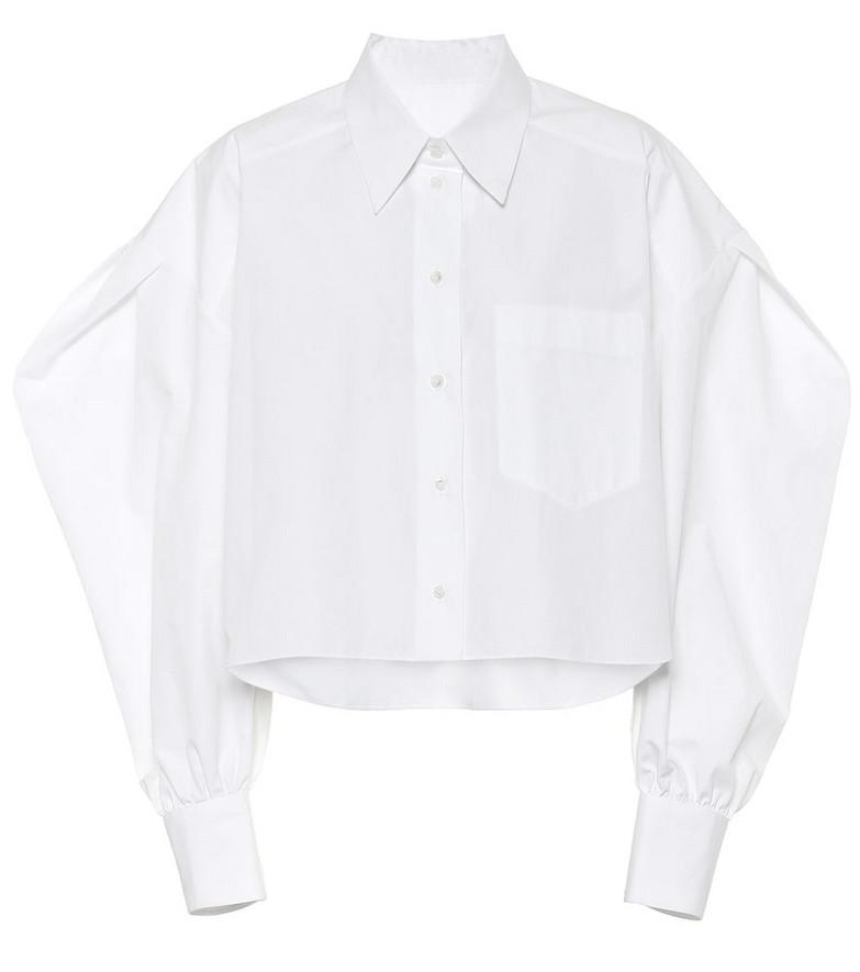 Valentino Cotton-poplin blouse in white