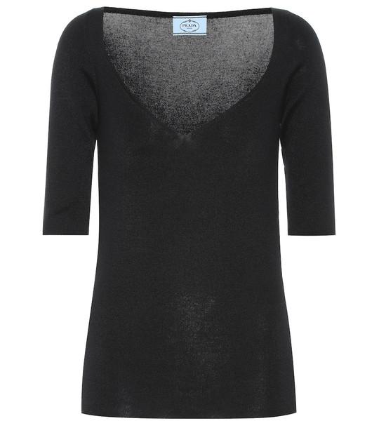 Prada Cashmere and silk sweater in black
