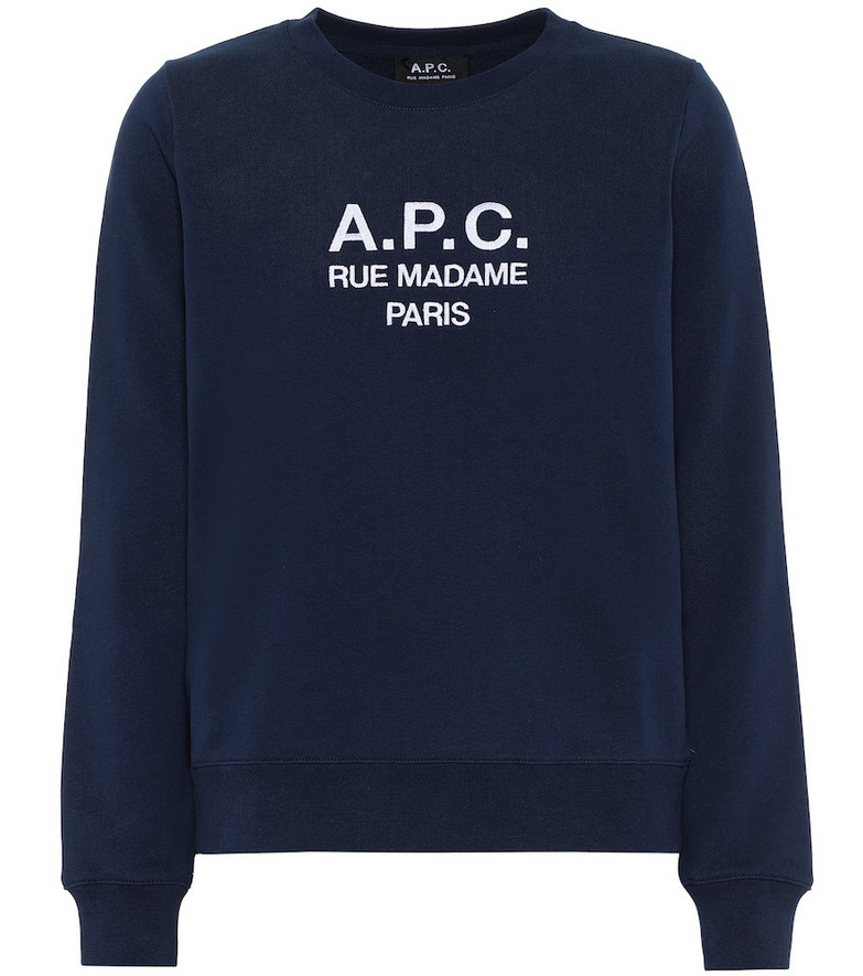 A.P.C. Tina printed cotton sweatshirt in blue