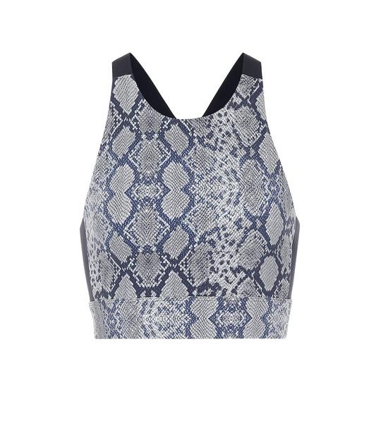 Varley Sherman printed sports bra in grey
