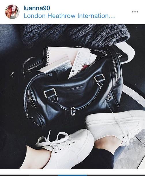 bag leather leather bag black leather bag le happy luanna perez white sneakers
